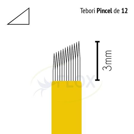 Lamina para Tebori 12 Chanfrada (Pincel)